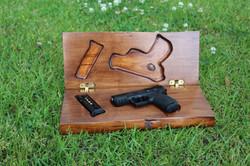 Custom built gun box open