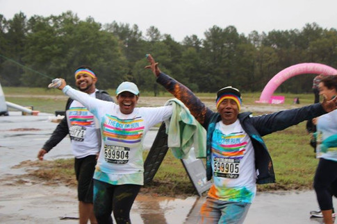 Udeshi loves to stay fit. At the Color Run with her Dad and Cousin