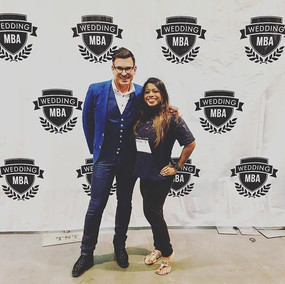 David Tutera and Udeshi Hargett having a great time hanging out at #WeddingMBA.jpg