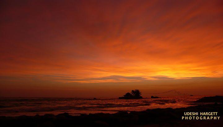 The sun has set in paradise island