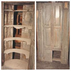Corner cabinet before refinishing