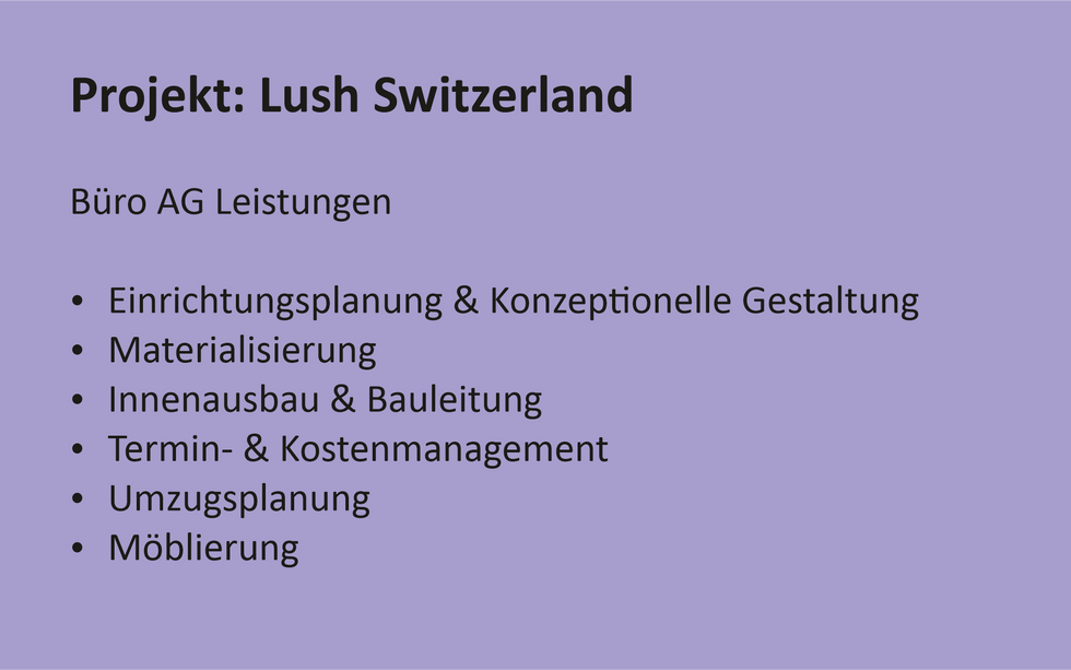 Referenz Projekt Lush Switzerland