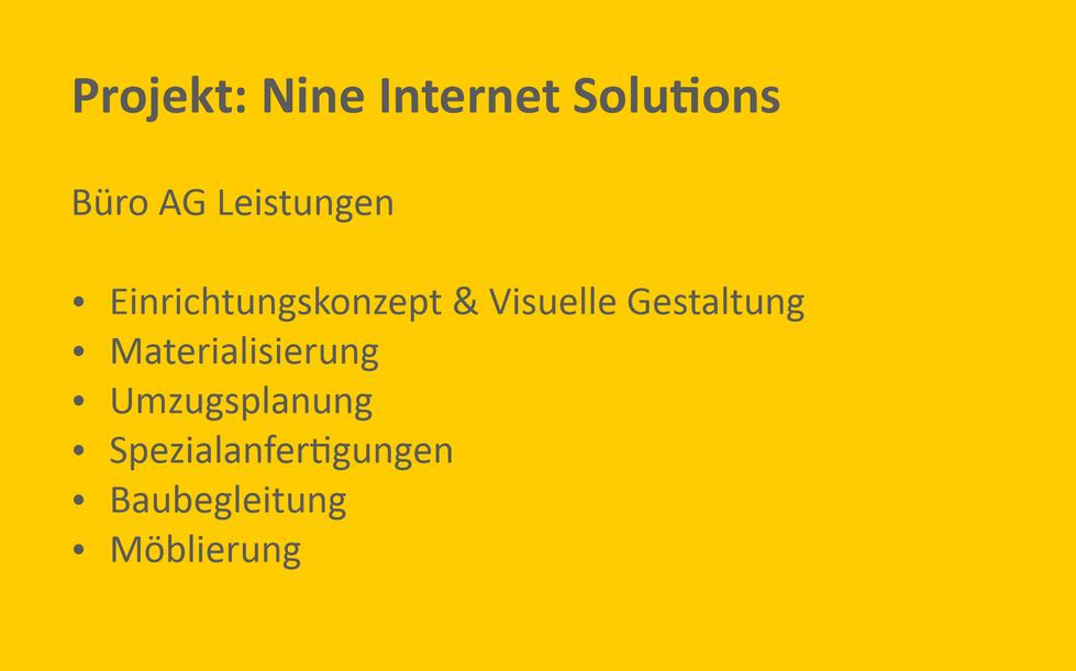 Referenz Projekt Nine Internet Solutions
