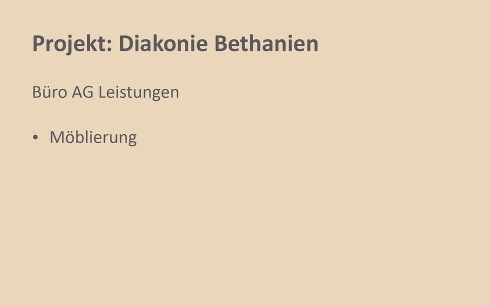 Referenz Projekt Diakonie Bethanien