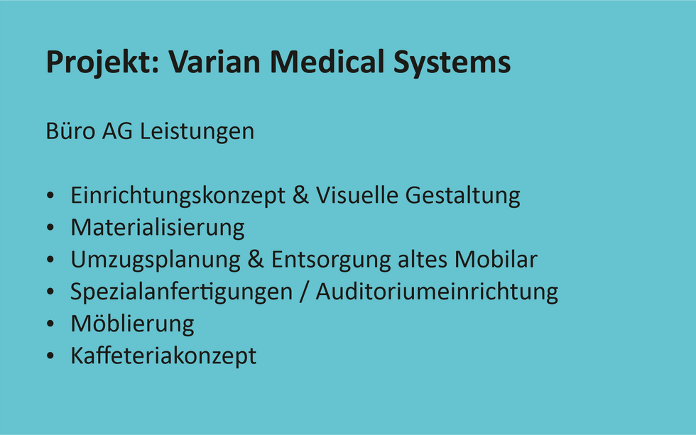Referenz Projekt Varian Medical Systems