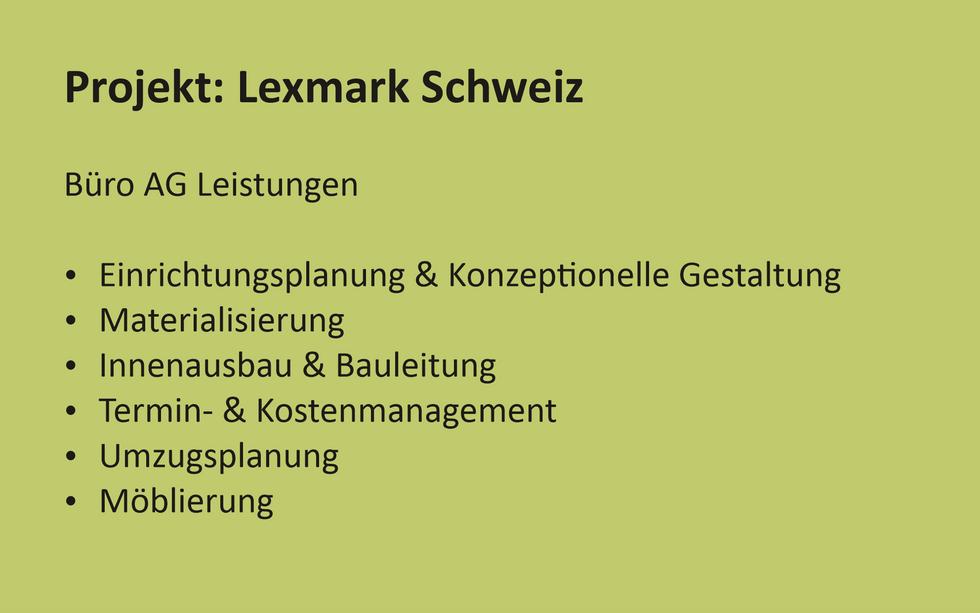 Projekt Referenz Lexmark Schweiz