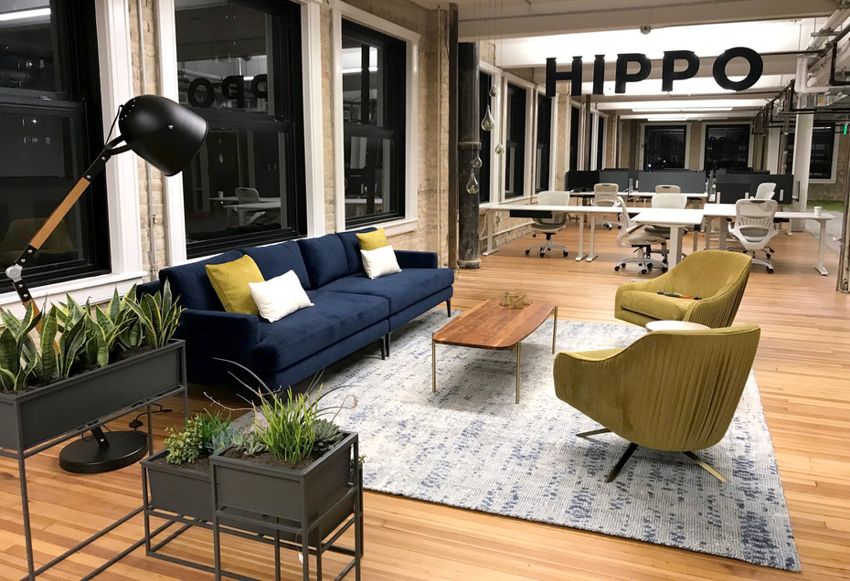 Commercial interior architecture for Hippo Insurance in Austin by Dana Ben Shushan at Dana Design Studio
