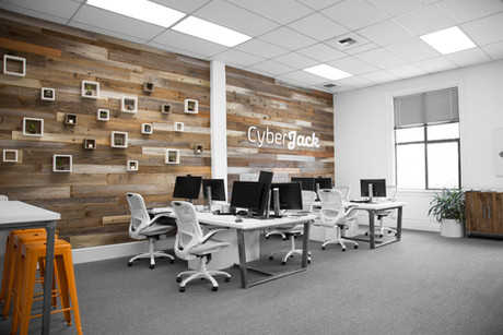Commercial interior architecture for Cyber Jack (now At-Bay) by Dana Ben Shushan at Dana Design Studio