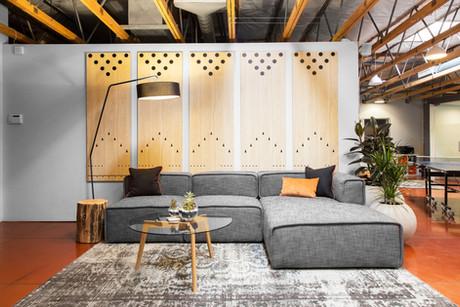 Commercial interior architecture for Duda in Palo Alto by Dana Ben Shushan at Dana Design Studio