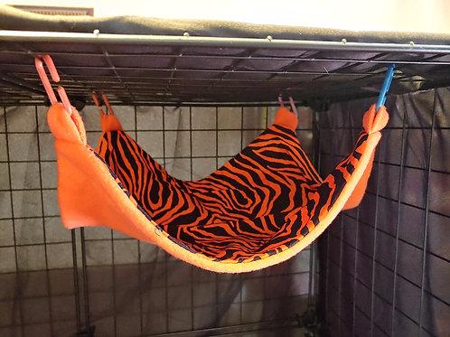"""Orange & Black Zebra Print 12""""x12"""" Hammock"""