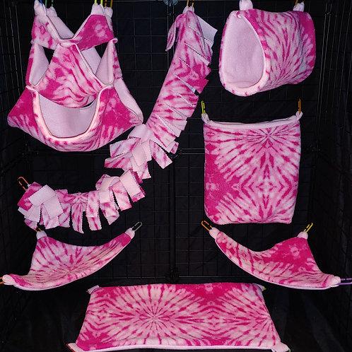 Pink Tie-Dye Cage Set