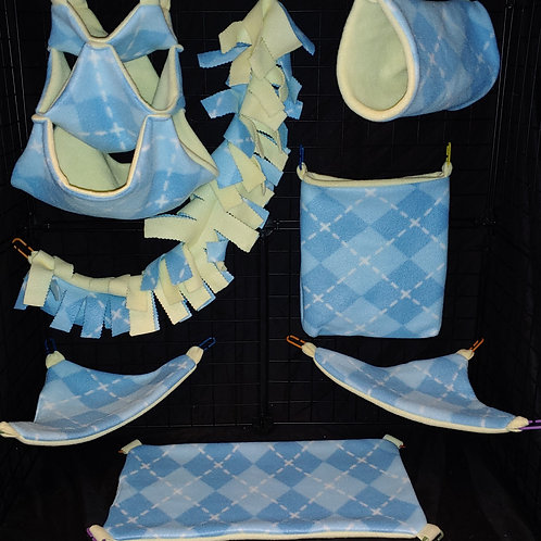 Baby Blue Argyle Cage Set