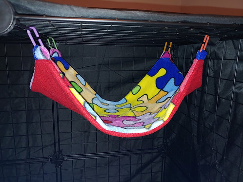 Autism Awareness on Red Long Hammock
