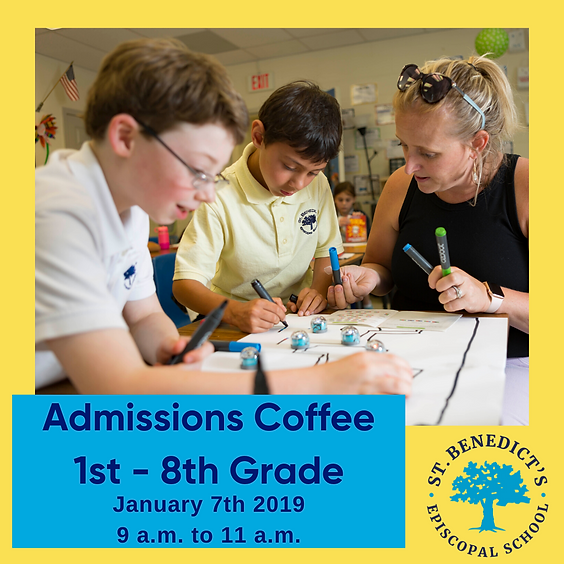 Admissions Coffee 1st - 8th Grade