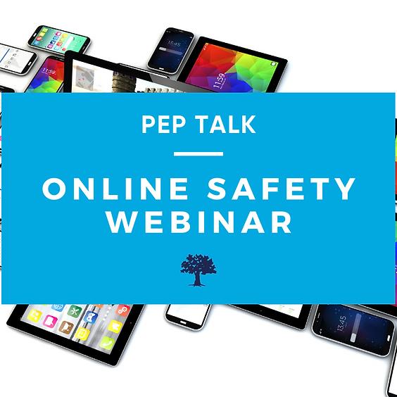 PEP Talk:  Online Safety Webinar 7th & 8th Grade
