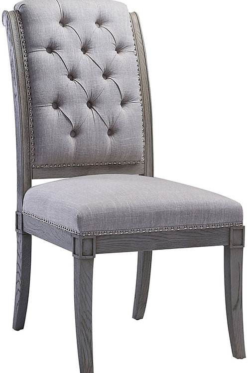 Addington Beige Linen Side Chair