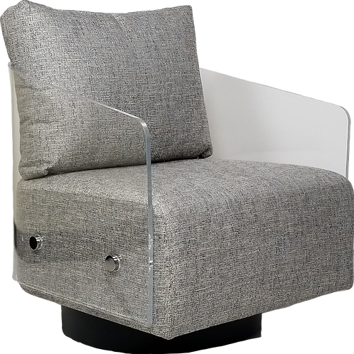 Lucy Full Swivel Chair Element-Platinum
