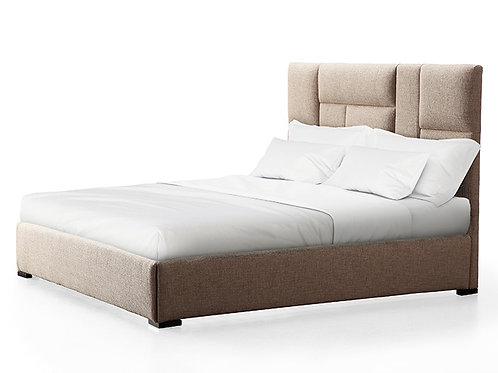 Connor Beige Bed in Queen/King