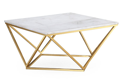 Leopold White Marble Cocktail Table