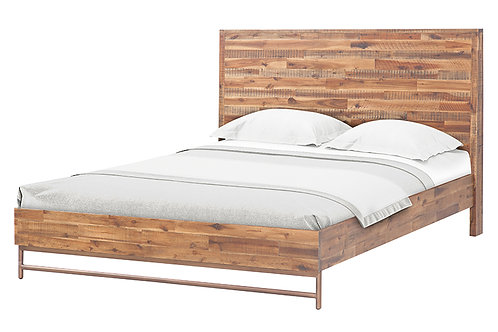 Bushwick Wooden Bed In Queen/King