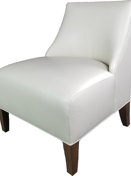 Iris Leather Armless Chair Cordell-Dove