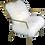Thumbnail: Ansel Brass Tibetan Fur Chair