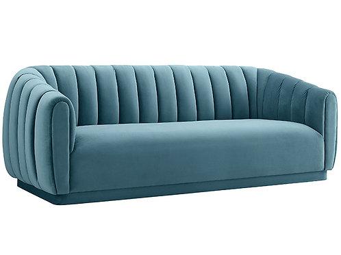 Arno Sea Blue Velvet Sofa