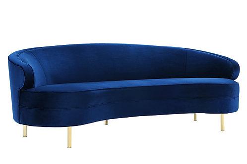 Baila Navy Velvet Sofa