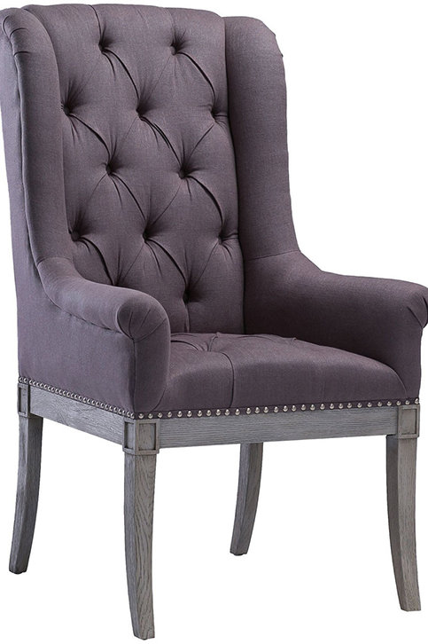 Addington Grey Linen Arm Chair