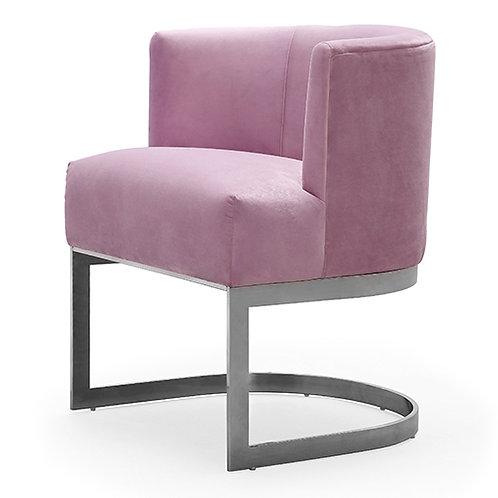 Eva Blush Velvet Chair