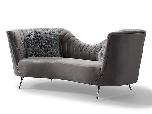 Eva Grey Velvet Sofa