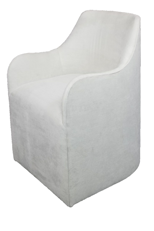 Amelie Dining Chair Soft Sude-Stone