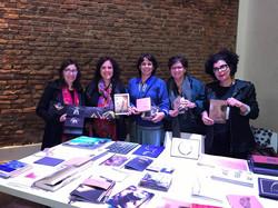 Laura Lavergne, Flavia, Monica Leme e Cristina Zarur com Laura Lavergne