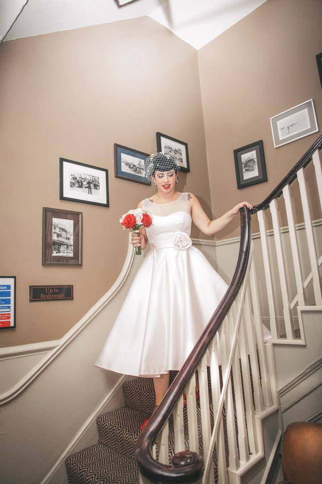 Vintage 50s Wedding Hair and Makeup