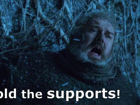 ¡Aguantan los soportes!