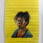 Óleo sobre papel post it 15 cm x 10 cm
