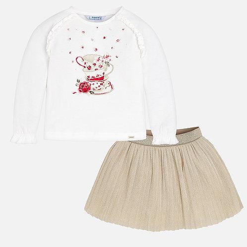 Комплект: лонгслив и юбка - Mayoral