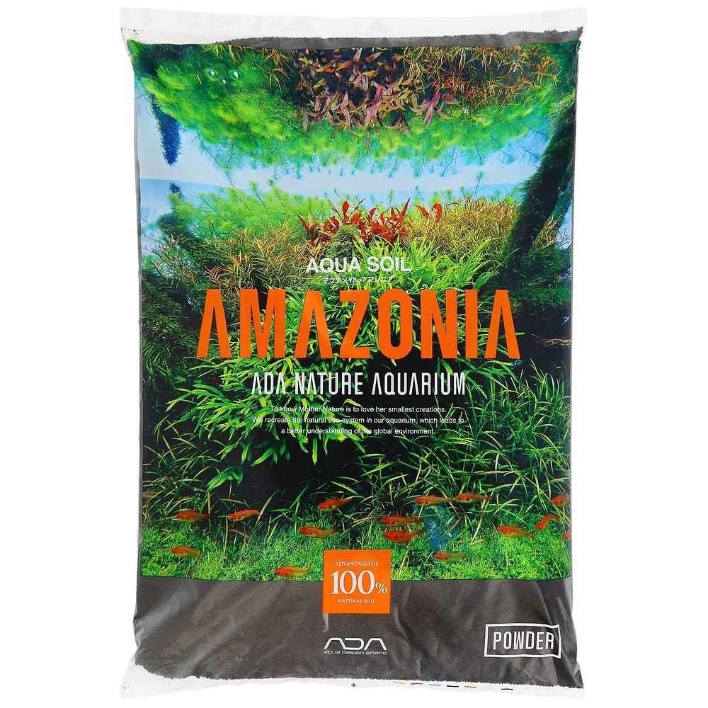 Op deze foto, de aquarium substraat Aqua soil Amazonia powder.