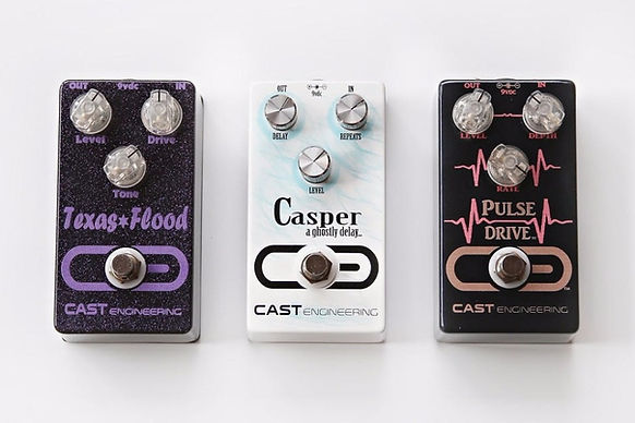 CAST Engineering offers hand made boutique guitar pedals, Texas Flood Overdrive, Casper Delay, Pulse Drive Tremolo, do you have yours?