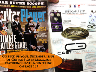 CAST Engineering in Guitar Player Magazine!!