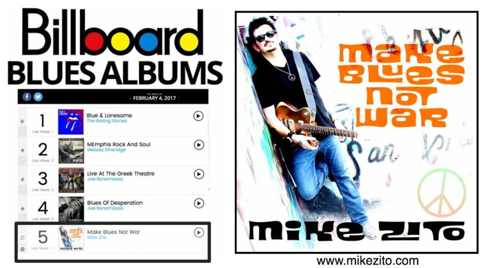 CAST Engineering Artist Mike Zito maintaining the top 5 on the Billboard!