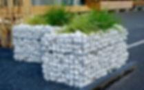 galet blanc carrare 60/100 deco jardin .