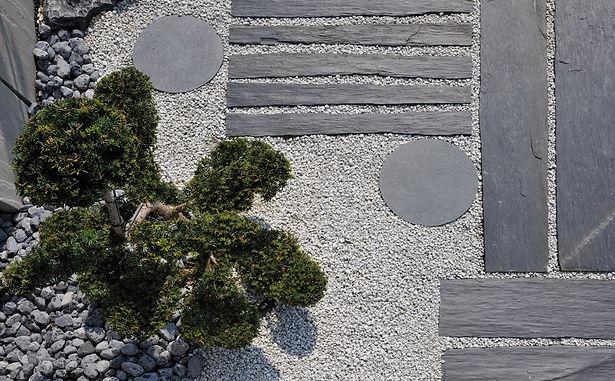 Gravillons blanc calcaire deco jardin .j