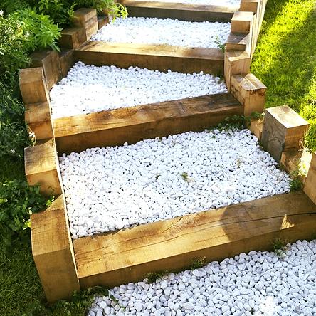 galet blanc roulé déco jardin