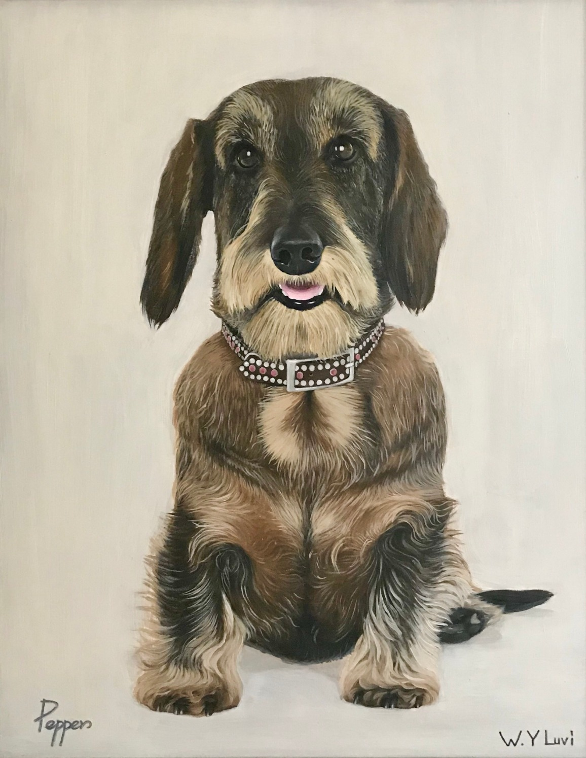 "Pepper 16"" x 20"" Oil"