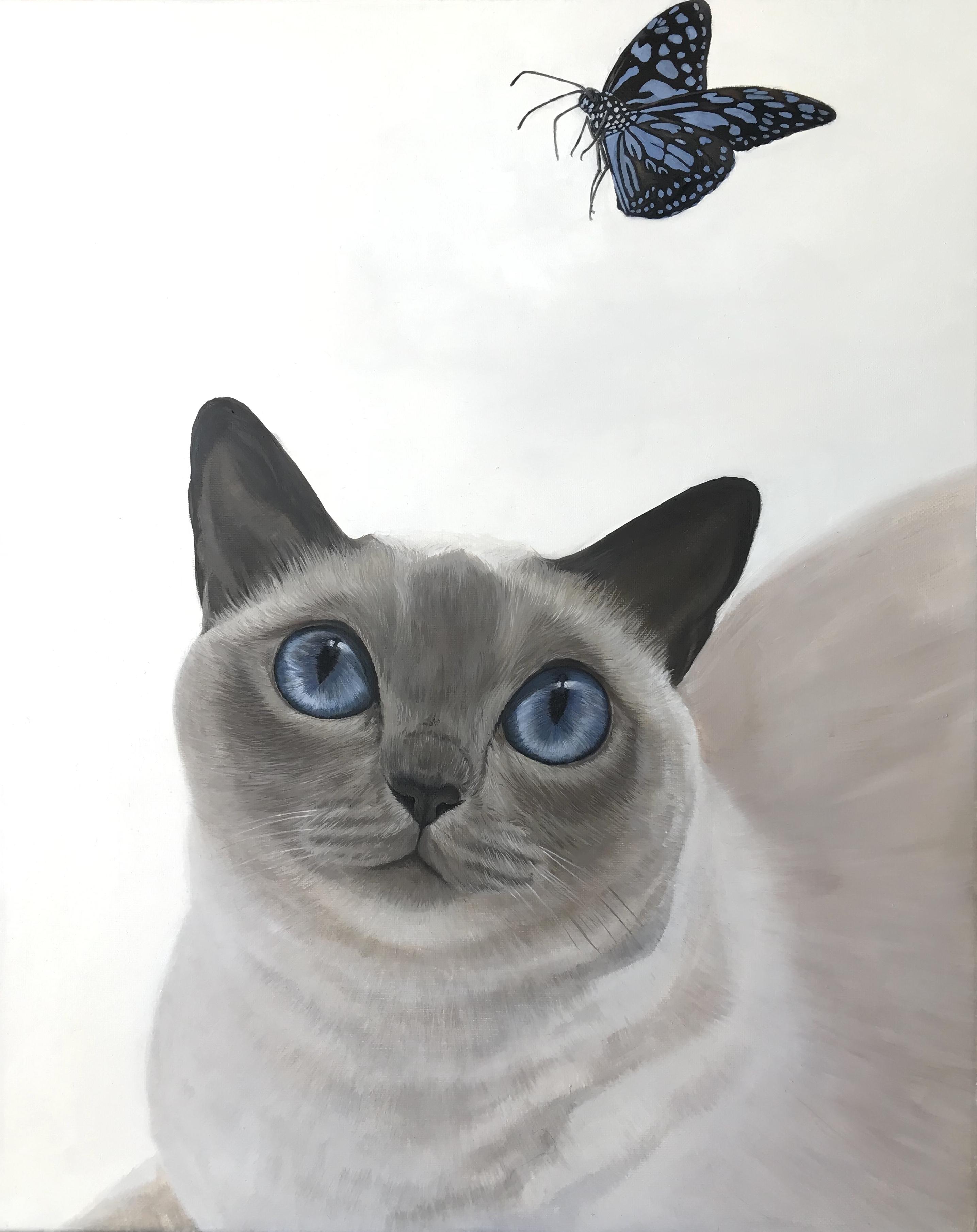 "16"" x 20"" Siamese Cat Oil"