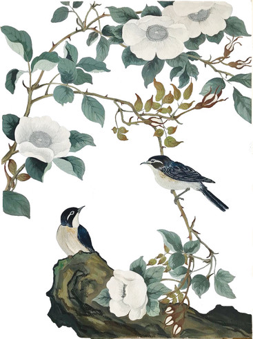 Birds At Home - Watercolor