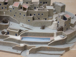 Architect's model with swimming pool