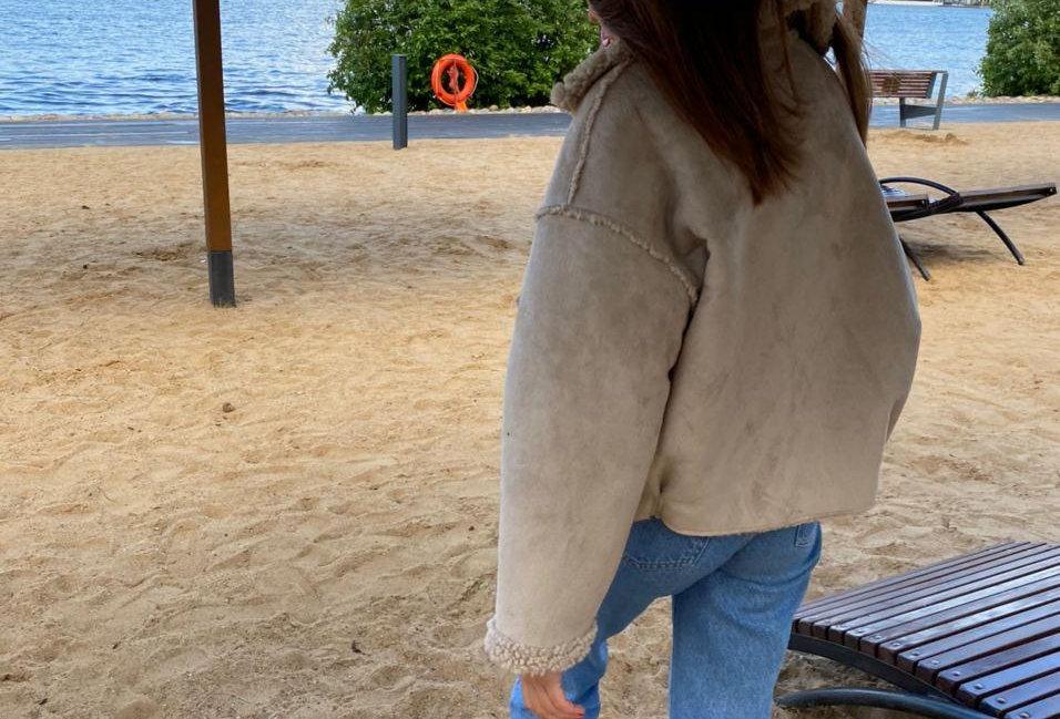Двусторонняя куртка OLIVIA слоновая кость