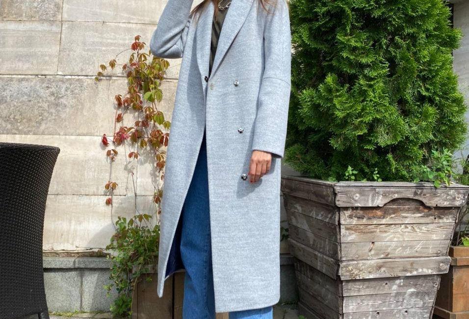 Coat KATERINA pale blue